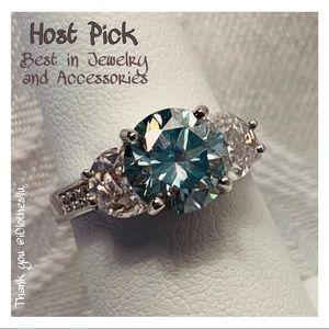 Jewelry - 2.4/2.6 Ct VVS1 Sky Blue Moissanite Ring